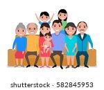 vector illustration cartoon big ... | Shutterstock .eps vector #582845953