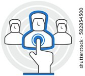 recruiting   infographic icon...