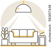 living room   infographic icon...
