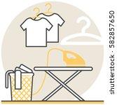 laundry room   infographic icon ...