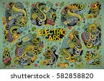 colorful vector hand drawn... | Shutterstock .eps vector #582858820