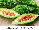 bitter melon  bitter gourd | Shutterstock . vector #582858928