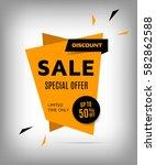 cretive sale banner. orange... | Shutterstock .eps vector #582862588