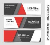 red horizontal business banner... | Shutterstock .eps vector #582862699