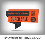 50  off sale banner design.... | Shutterstock .eps vector #582862720