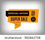 70  off sale banner design.... | Shutterstock .eps vector #582862738