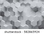 abstract white geometric... | Shutterstock . vector #582865924