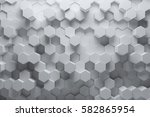 abstract white geometric... | Shutterstock . vector #582865954