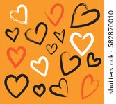 love hand drawn heart... | Shutterstock .eps vector #582870010