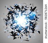 abstract black explosion.... | Shutterstock .eps vector #582871264