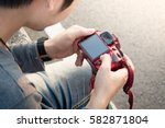 photographer is taking a... | Shutterstock . vector #582871804