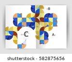 print template modern elegant... | Shutterstock .eps vector #582875656