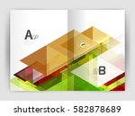 abstract background with color... | Shutterstock .eps vector #582878689