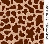 texture cow brown beige spot... | Shutterstock .eps vector #582881554