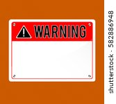warning sign  vector. flat sign ... | Shutterstock .eps vector #582886948