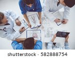 top view of successful medical...   Shutterstock . vector #582888754