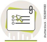 online test   infographic icon...
