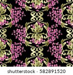 baroque pattern with small... | Shutterstock .eps vector #582891520