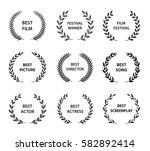 set of black and white... | Shutterstock .eps vector #582892414