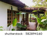 cabin at the eco lodge rancho... | Shutterstock . vector #582894160