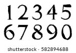 grunge numbers set.vector... | Shutterstock .eps vector #582894688