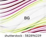 vector color stripes  wave... | Shutterstock .eps vector #582896239