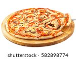 acute pizza california ... | Shutterstock . vector #582898774