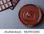 melted chocolate and bar... | Shutterstock . vector #582901000