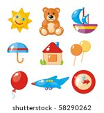 set of child's pictures for a... | Shutterstock .eps vector #58290262