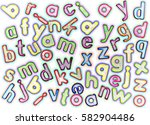 plastic multicoloured plastic... | Shutterstock . vector #582904486