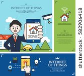 internet of things situation... | Shutterstock .eps vector #582906418