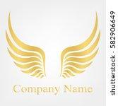golden wings | Shutterstock .eps vector #582906649