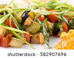 close up of veggie salad | Shutterstock . vector #582907696