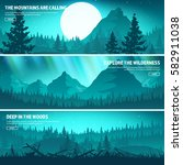 mountains and forest. wild... | Shutterstock .eps vector #582911038