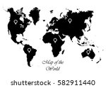 map of the world with pointer... | Shutterstock .eps vector #582911440