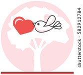 bird in love   infographic icon ...