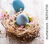 springtime   happy easter | Shutterstock . vector #582914734