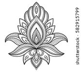 mehndi lotus flower pattern for ... | Shutterstock .eps vector #582915799