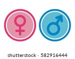 female and male signs in circles | Shutterstock .eps vector #582916444