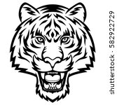 a tiger head logo. this is... | Shutterstock .eps vector #582922729