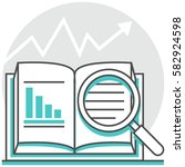 case study   infographic icon... | Shutterstock .eps vector #582924598
