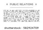 line web banner for public... | Shutterstock .eps vector #582924709
