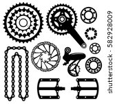 bicycles. set of bicycle parts | Shutterstock .eps vector #582928009