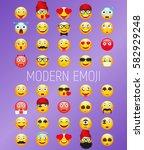 emoji vector illustration.... | Shutterstock .eps vector #582929248