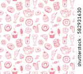 seamless pattern with hand... | Shutterstock .eps vector #582931630