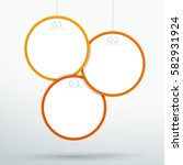 infographic 3 hanging 3d circle ... | Shutterstock .eps vector #582931924