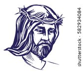 jesus christ  the son of god in ... | Shutterstock .eps vector #582934084