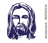 jesus christ  the son of god    ... | Shutterstock .eps vector #582934114