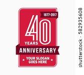 40 years anniversary design... | Shutterstock .eps vector #582935608