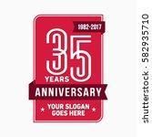 35 years anniversary design... | Shutterstock .eps vector #582935710